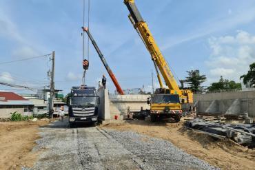 Phấn đấu sớm hoàn thành công trình đường Trần Hoàng Na